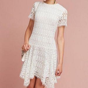 NWT Anthropologie Shoshanna Lace Anika White Dress